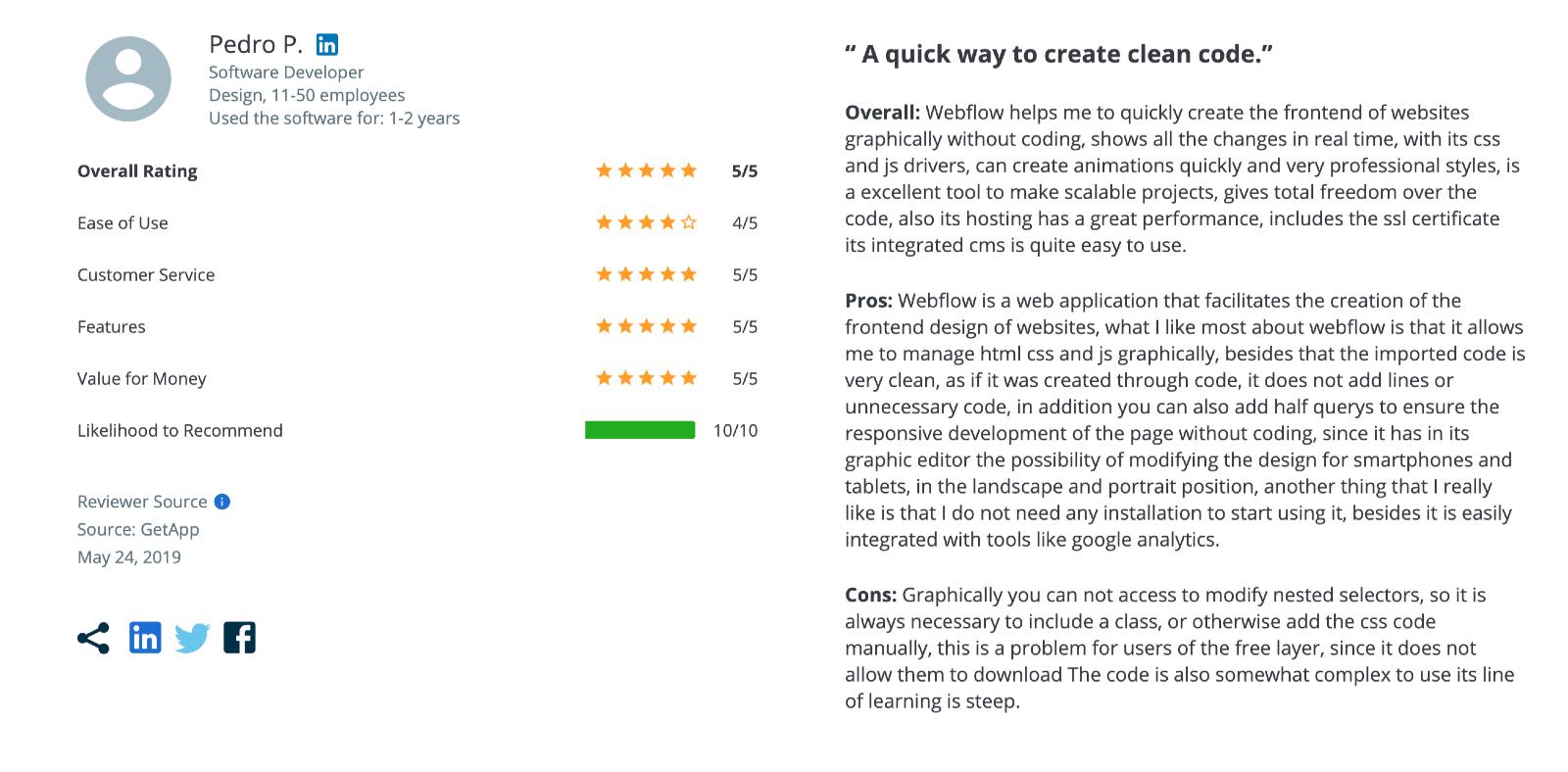 Webflow Reviews