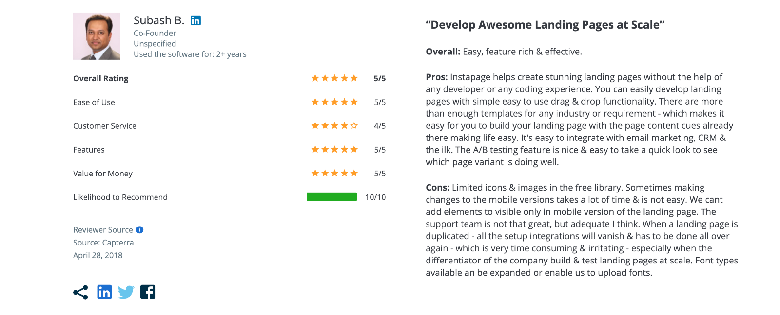 Instapage Reviews
